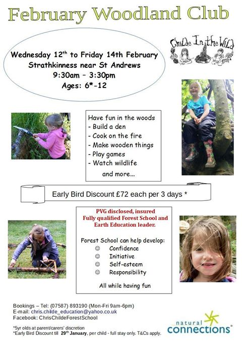 February Woodland Club – Childe in the Wild