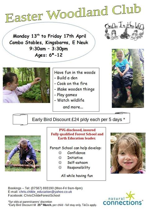 Easter Holiday Woodland Club – Childe in the Wild